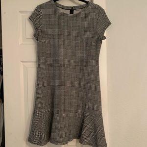 Black and white Plaid mini dress from Gap